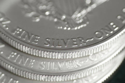 Fine Silver (Words) of US SIlver Eagle Coin